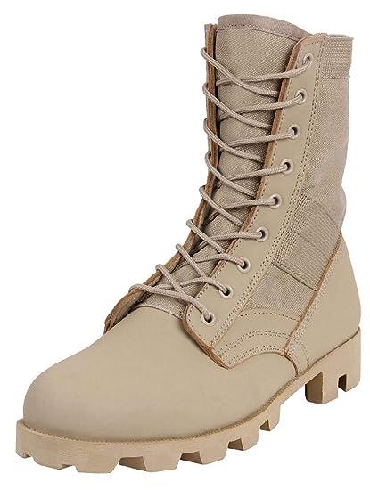 Amazon.com   BlackC Sport Desert Tan Panama Sole Combat Boots ... bd8de11ccd2