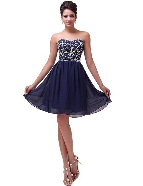 Vestidos de fiesta color azul noche corto