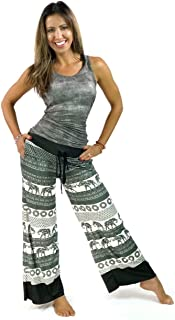 product image for YOGANASTIX Eco-Friendly Flowey Pocket Elephants Pants