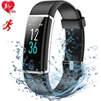 Fitness Tracker AISIRER Color Screen Smart Bracelet with Heart Rate Monitor Watch Sleep Monitor IP68 Waterproof Pedometer Calorie Counter 14 Sport Modes Activity Tracker for iPhone and Android Smartphones for Adults Kids