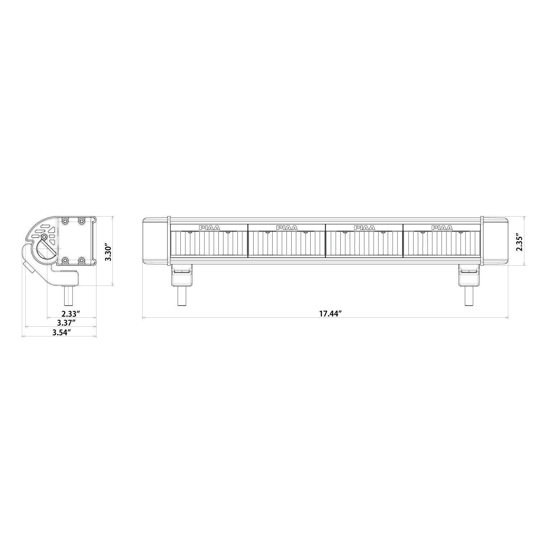 amazon com piaa 26 07118 rf series 18 sae compliant hybrid beam rh amazon  com 510 Long Tractor Wiring Diagrams PIAA Wiring Harness