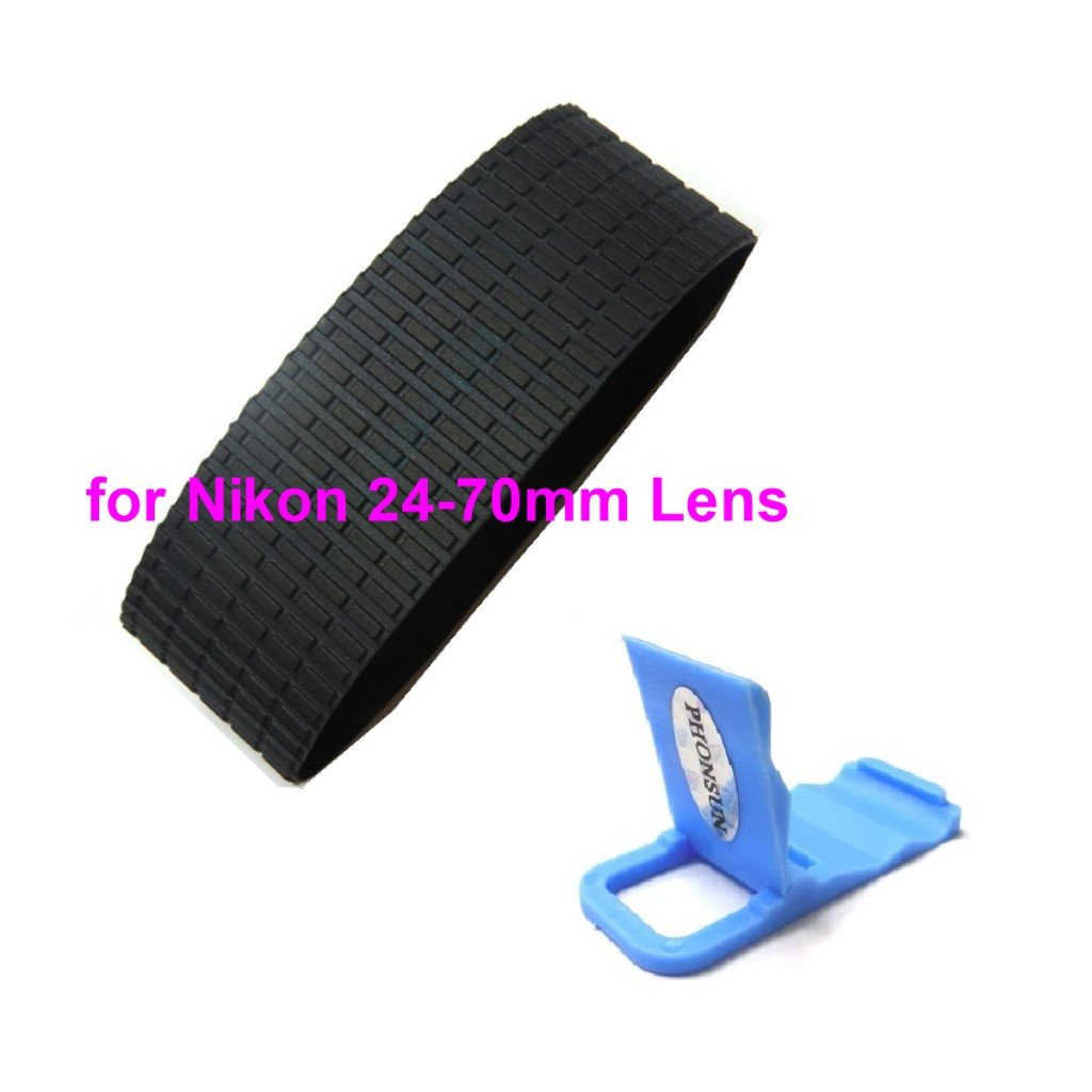 Lens Zoom Grip Rubber Ring Replacement Part For Nikon Af-S 24-70mm F/2.8G TW + PHONSUN Portable Cellphone Holder by PHONSUN