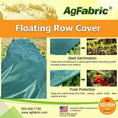 Agfabric Floating Row Cover & Plant Blanket, 1.5oz Fabric for Frost Protection,Gardening, Harsh Weather Resistance& Seed Germination 6x25ft, Dark Green