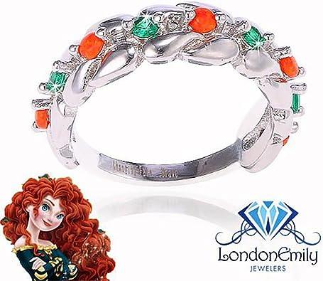 GiftJewelryShop Pink Princess Tiara Sapphire Crystal September Birthstone Red Santa Hat Charm Bracelets