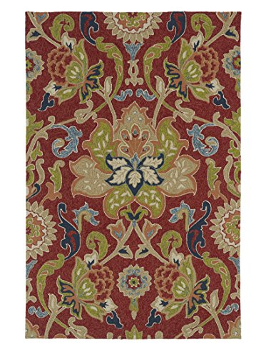 Amazon Com Kaleen Rugs Home Porch Indoor Outdoor Rug Red 3 X 5