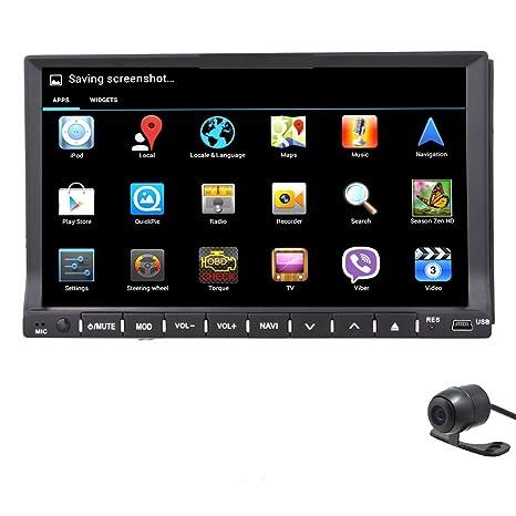 Generic Android 4,2 coche GPS Din 7 pulgadas coche reproductor de DVD GPS navegación estéreo ...