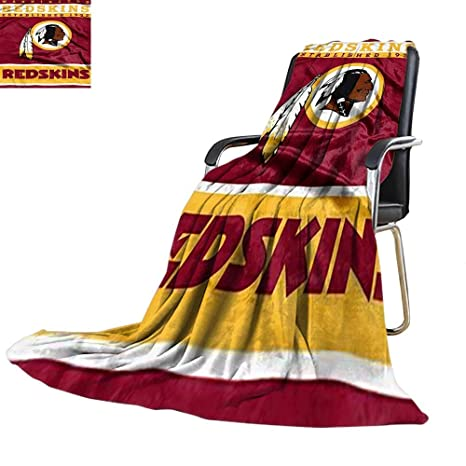 Enjoyable Couch Blanket Washington Redskins Royal Plush 12Th Man Design Custom 60 X 70 300Gsm Super Soft And Warm Durable Creativecarmelina Interior Chair Design Creativecarmelinacom