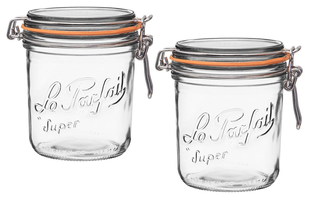 Le Parfait French Terrines Wide Mouth Glass Canning Jar with 100mm Gasket, 750 Grams (Pack of 2) COMIN18JU095437
