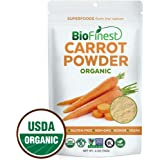 Biofinest Carrot Powder -100% Pure Antioxidants Superfood - USDA Certified Organic Kosher Vegan Raw Non-GMO - Boost Digestion Detox Weight Loss - for Smoothie Beverage (4 oz Resealable Bag)