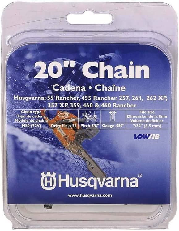 Gauge 3//8 Pitch Low Kickback Low-Vibration,Chain 20 inch