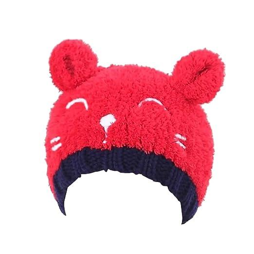 Baby Fashion Bear Design Infant Winter Warm Hat Crochet Knitted Hat ... de4f3c40f4