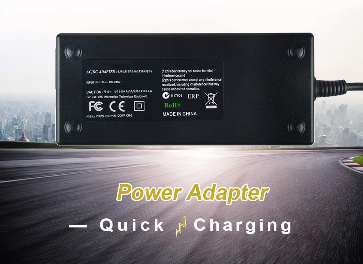 New Global 19V-20V AC//DC Adapter Replacement for ViewSonic VP2785-4K VS16881 27 Frameless IPS 4K UHD Monitor DC19V-20V 19V-20VDC Power Supply Cord Cable PS Wall Home Battery Charger PSU TOP