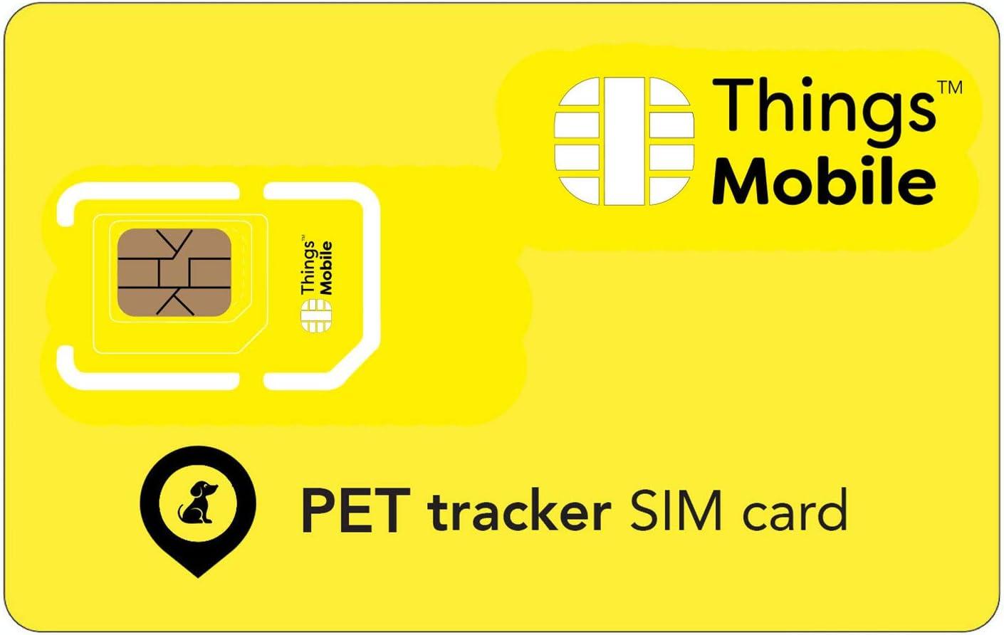 Tarjeta SIM para TRACKER / LOCALIZADOR GPS DE MASCOTAS - Things Mobile - cobertura global, red multioperador GSM/2G/3G/4G, sin costes fijos, sin vencimiento. Crédito no incluido