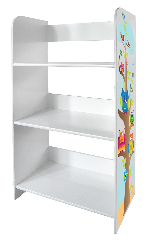 Scaffale Per Cameretta Bambini Motivo Gufi Mobile Porta Giocattoli Mobili in Legno Libreria Armadietto Pannelli