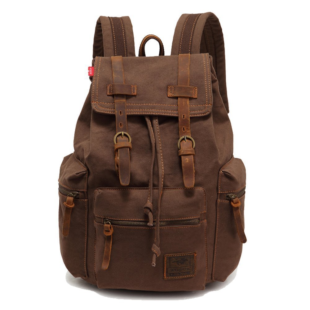 Canvas backpack retro backpack leisure backpack outdoor climbing backpack neutral