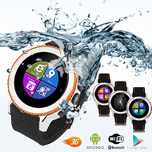 inDigi® Android 4.0 Smart Watch Phone w/ WiFi Bluetooth Google Play Store - GSM Unlocked - AT&T / T-Mobile / Straightalk (US Seller) by inDigi