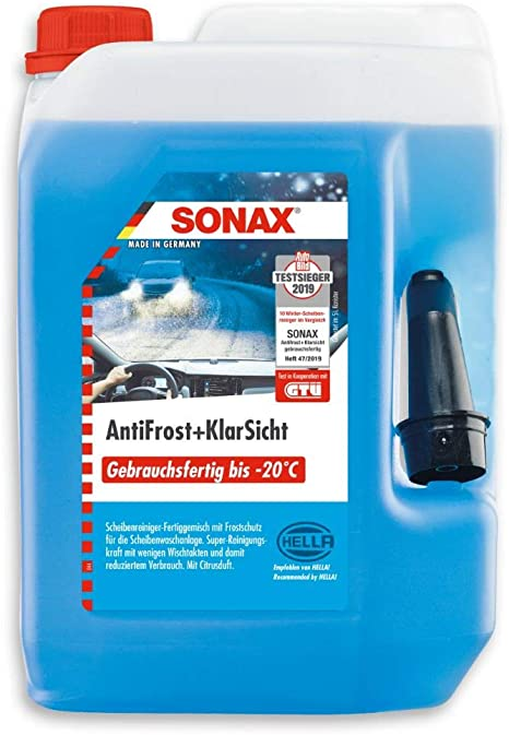 Sonax Antifrost Klarsicht Gebrauchsfertig Bis 20 C 5 Liter Schneller Schlierenfreier Und Effektiver Scheibenreiniger Für Den Winter Art Nr 03325000 Auto