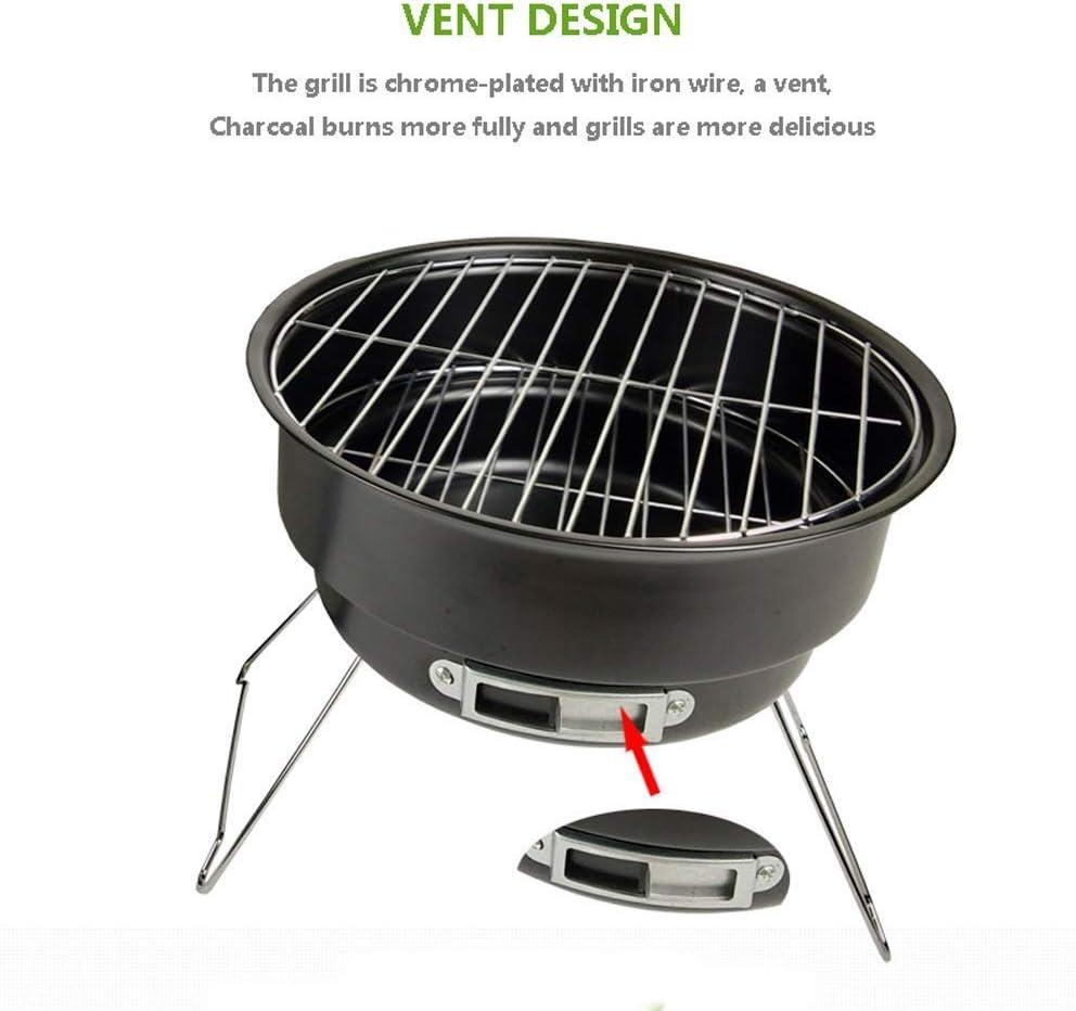 Barbecue Grill Portable Pliant sans Fumée Grill Maison Intérieure pour Jardin, Pique-Nique, Randonnée, Festivals Ou Voyages De Camping Black