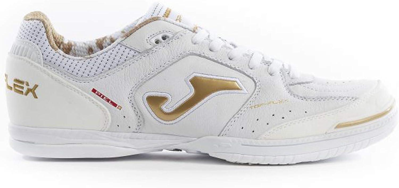 White-Gold Joma Top Flex Zapatilla de f/útbol Sala