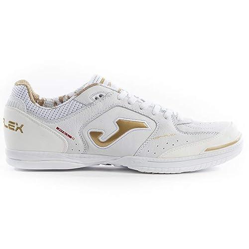 Joma Top Flex, Zapatilla de fútbol Sala, White-Gold: Amazon.es: Zapatos y complementos
