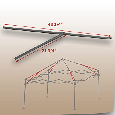 "for Coleman 10 x 10 Straight Leg Instant Canopy Gazebo 43 3/4"" PEAK TRUSS Bars with Support Replacement Parts: Garden & Outdoor"