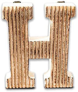 Kaizen Casa Decorative Wood Letters, Hanging Wall Letter H Decorative Letter