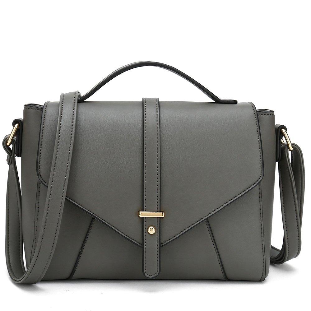 Ladies Designer Purses Cross Body Handbags Trendy Bags for Women Shoulder Bags (Grey)