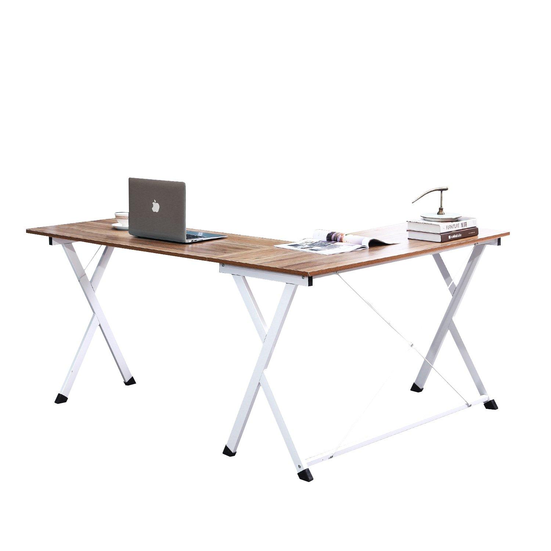 Soges L-Shaped Desk Computer Desk with Mainframe Multifunctional Computer Table Workstation, Oak ZJ1-OK-WK-CA PRC