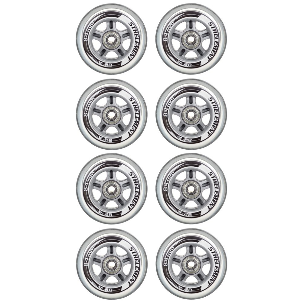 84mm 8 Pack Inline Skate Wheels with ABEC-7 Bearings 5th Element 84mm