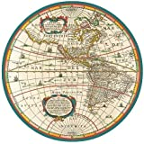 Paper Plates Dinner Size World Map 16 Count