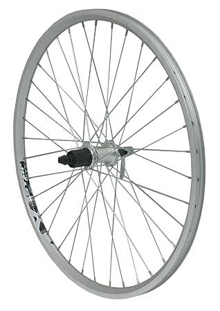 700c FRONT Hybrid Bike Disc Wheel CNC Double Walled RIGIDA SILVER Rim