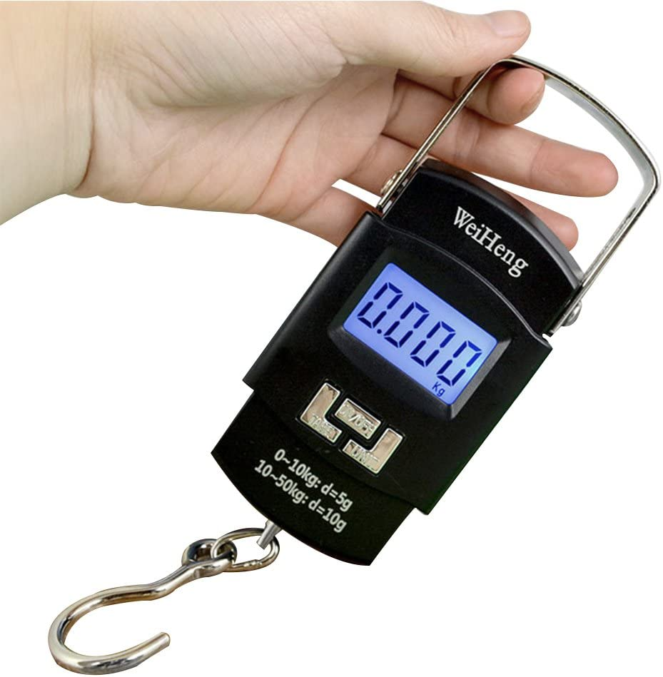 LCD Screen AAA Batteries Powered Isafish Portable Electronic Balance Digital Fishing Hook Hanging Scale Luggage Scale 110 lb//50 kg Capaticy