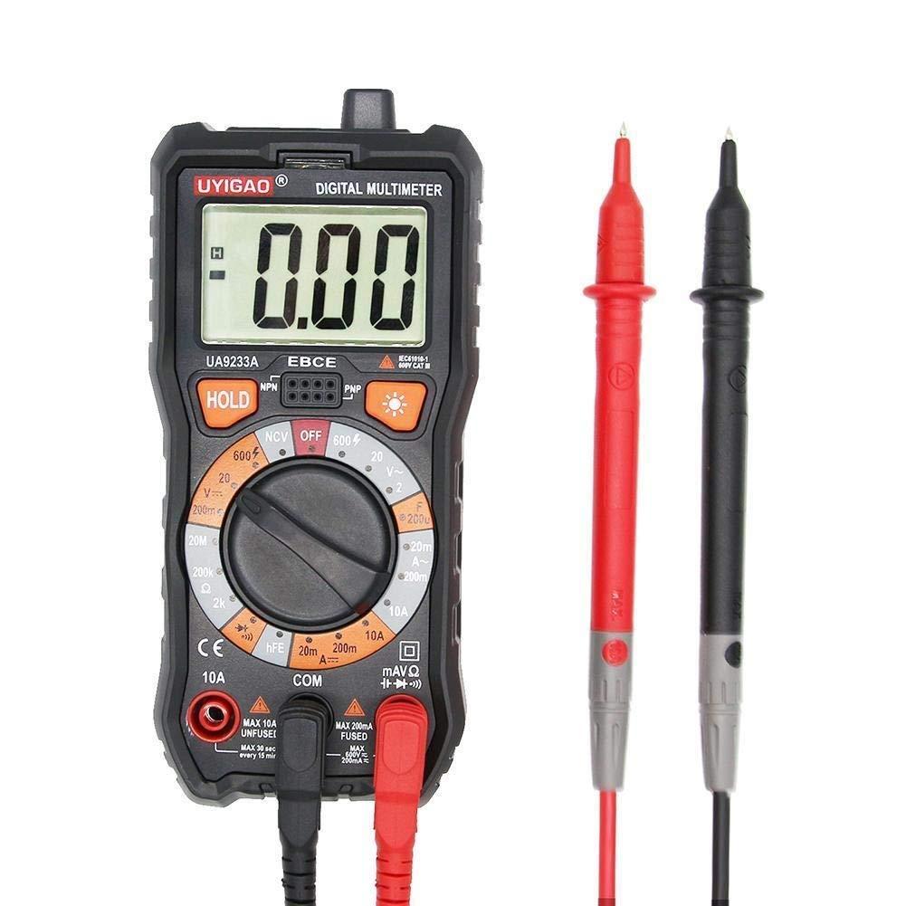 Digital LCD Display Range Digital Multimeter DC AC Voltage Current Resistance Digital Multimeter Tester Universal Electric Meter UA9233A Precise