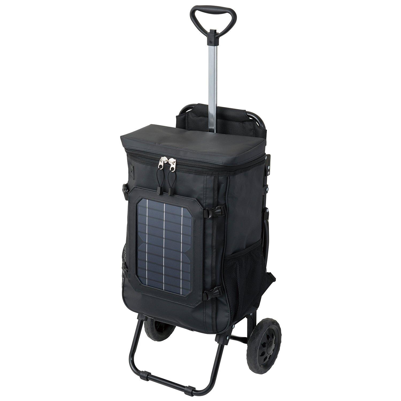 COCORO(ココロ) ソーラーチェアカート サン(SUN) LEDライト付きモバイルバッテリー/Android対応ケーブル付属 ブラック 980 B06W9KSXZN  ブラック