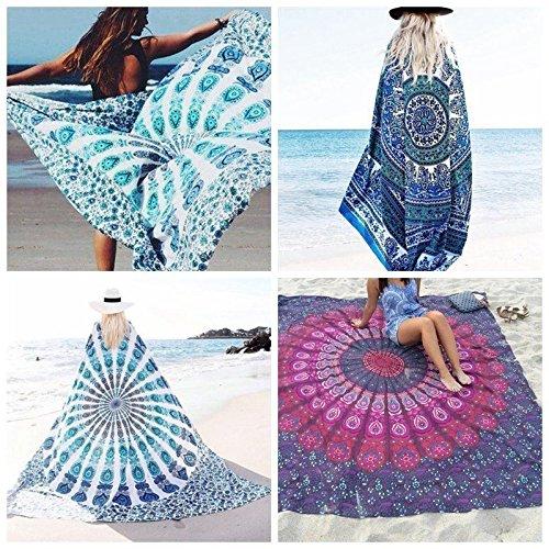 LARARHEE-Bohemian Mandala Tapestry Beach Throw Towel Blanket Yoga Mat Wall Hanging Cloth