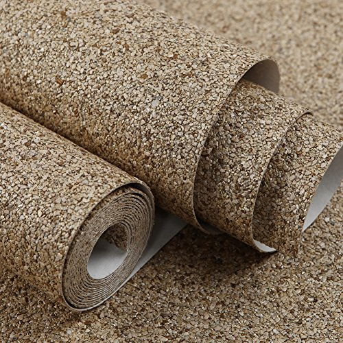 HANMERO Luxury Design Vermiculite Mica Stones Wallpaper Wall Covering for Home, Bedroom, Dining Rooms and Hotel Wall Art Wall Decoration - MC (300cm x 53cm) Modern Designer Wall Paper (Beige) by HANMERO (Image #9)
