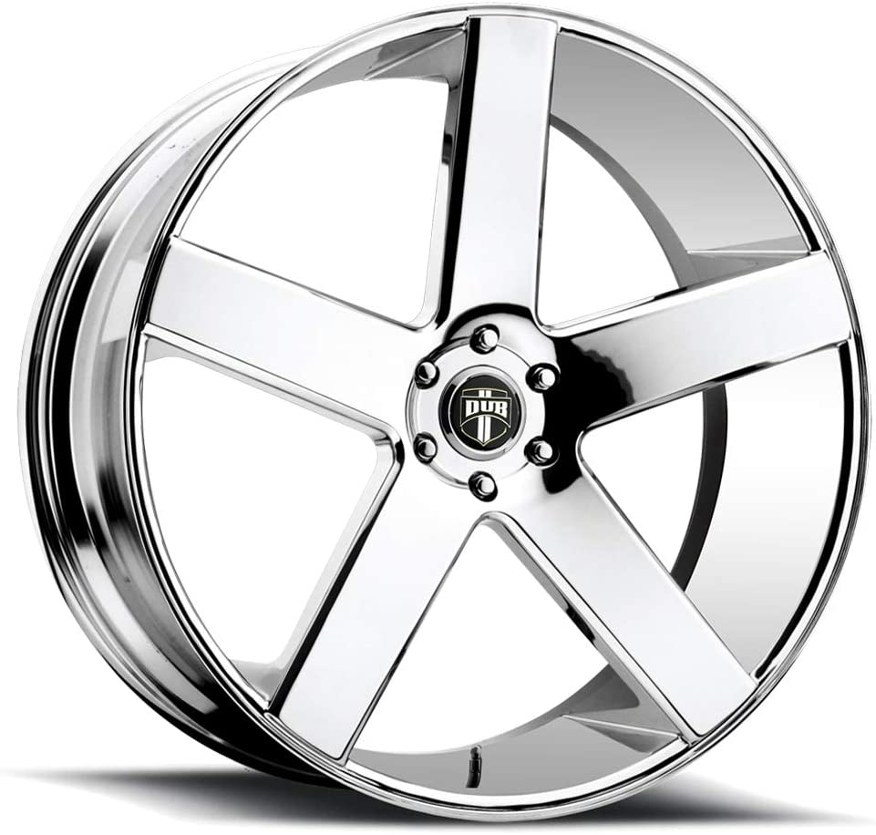 Partnumber S115240073+20 DUB Baller 24 Chrome Wheel Rim 5x5 with a 20mm Offset and a 78.1 Hub Bore