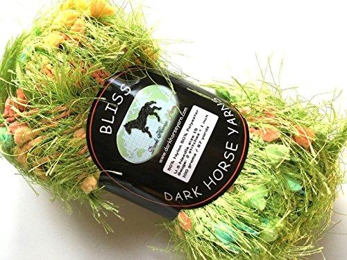 Dark Horse Yarns Bliss #512 Sweet Spring Green Fancy Fur Eyelash Popcorn Yarn, 100 Gram, 87 Yards - Fur Fancy Yarn