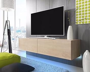 Tv lowboard holz hängend  Lana – Fernsehschrank/TV-Lowboard mit LED Modern Hängend 200 cm ...