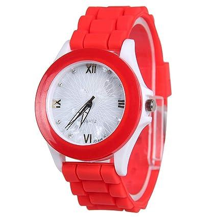 Relojes De Mujer Reloj De Pulsera De Silicona para Mujer con Reloj De Cuarzo con Gelatina