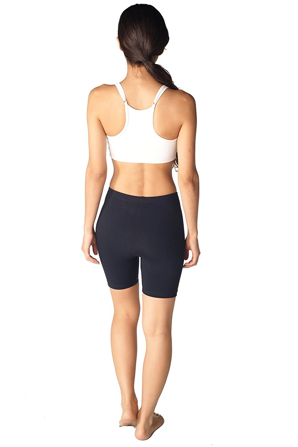 Womens Combed Cotton Basics 5 Inch Bike Short By In Touch At Amazon Golf Wiring Schematicit Shortsi Put The Positive Battery Cable On Clothing Store Athletic Shorts