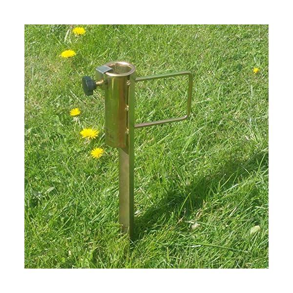 Land-Haus-Shop®, picchetto di supporto per ombrellone o stendibiancheria, da piantare nel terreno, in lamiera di acciaio… 4 spesavip