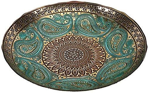 IMAX 83185 Paisley Glass Bowl