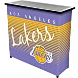 NBA Los Angeles Lakers Portable Bar with Case, One Size, Black