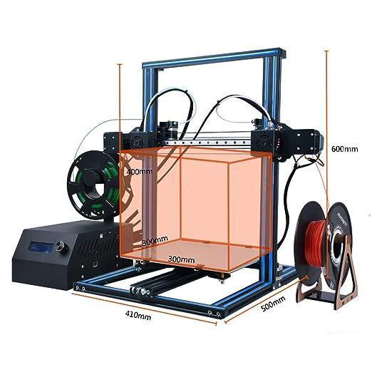 HICTOP Impresora 3D DUALE 3 Independiente Dual Extruder - Impresora 3D Desktop de Prusa I3 Tamaño de impresión 300x300x400mm Kit DIY: Amazon.es: Industria, empresas y ciencia