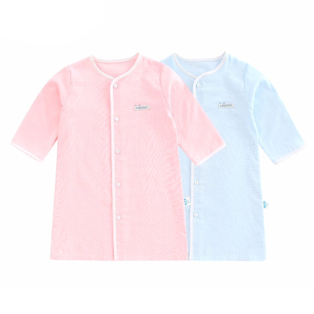 PAUBOLI Baby Nightgowns Bamboo Organic Cotton Wearable Snap Nightgown Infant Long Sleeve Pajamas