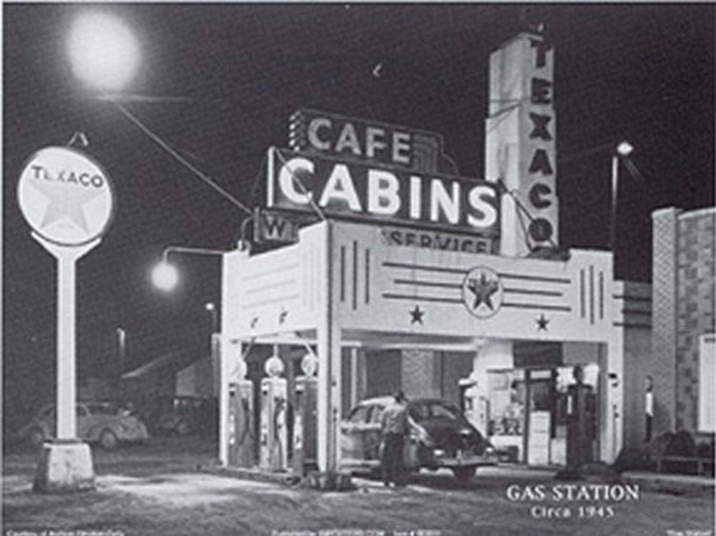 Amazon.com: Buyartforless Gas Station Circa 1945 32x24 Art Print Poster Vintage  Gas Station Stop Texaco Black and White: Prints: Posters & Prints