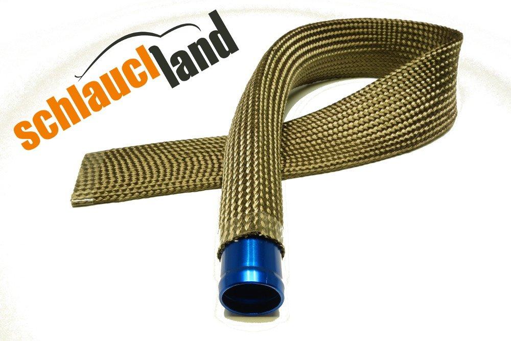 1m Kevlar Titan Hitzeschutzschlauch ID 7mm *** Heat sleeve Thermoschutz Isolierschlauch Kabelschutz Schlauchland