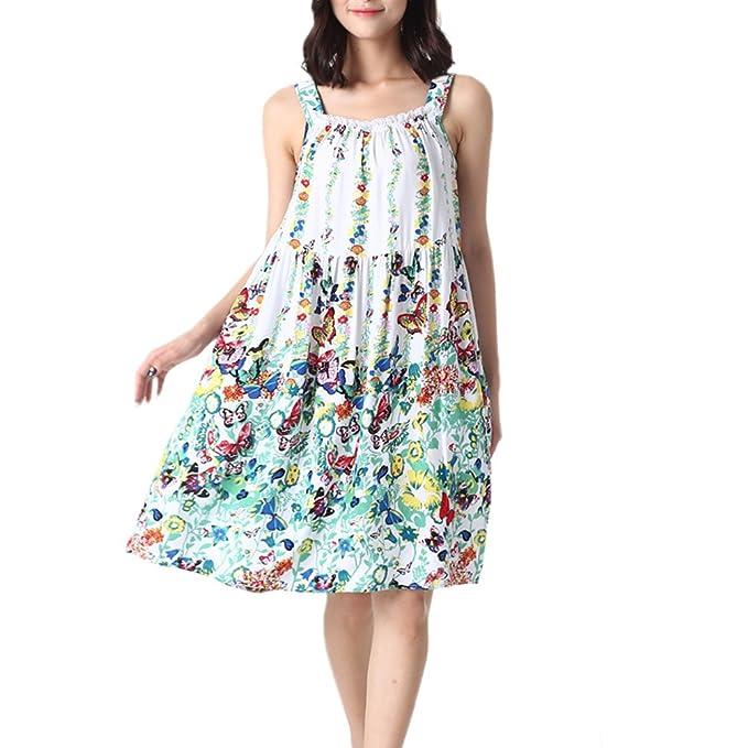 4f3cf6d71b ENJOYNIGHT Women s Cotton Sleeveless Nightgown Chemise Sleep Dress (Small