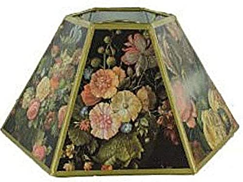 Upgradelights Black Floral Hex 12 Inch Uno Lampshade Replacement 7x12x7.5